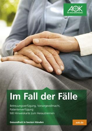 """Broschüre """"Im Fall der Fälle"""""""