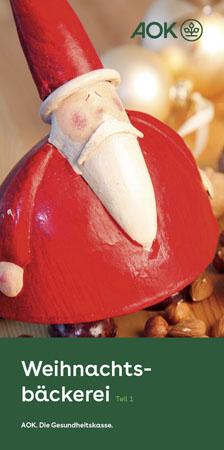 """Faltblatt """"Weihnachtsbäckerei 1"""""""