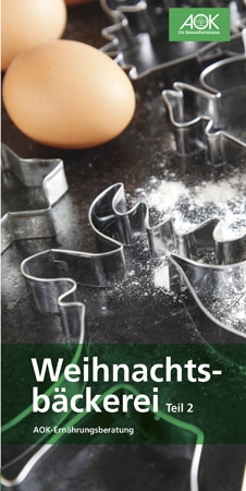 """Faltblatt """"Weihnachtsbäckerei 2"""""""