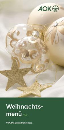 """Faltblatt """"Weihnachtsmenü 1"""""""
