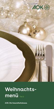 """Faltblatt """"Weihnachtsmenü 2"""""""
