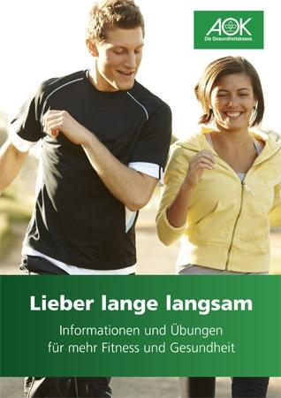 "Broschüre ""Lieber lange langsam"""