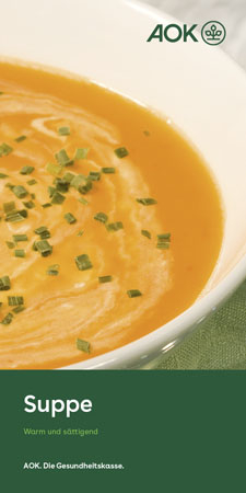 "Faltblatt ""Suppe"" AOK Logo"