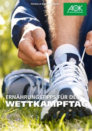 """Flyer """"Ernährungstipps für den Wettkampftag"""""""
