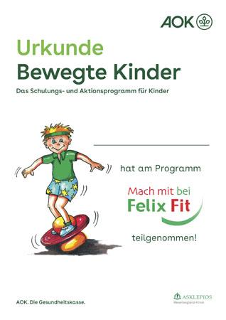 Urkunde - Mach mit bei Felix Fit