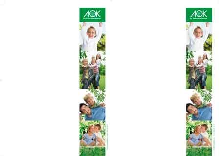 AOK-Kopiervorlagen 2 x DIN A5 auf DIN A 4