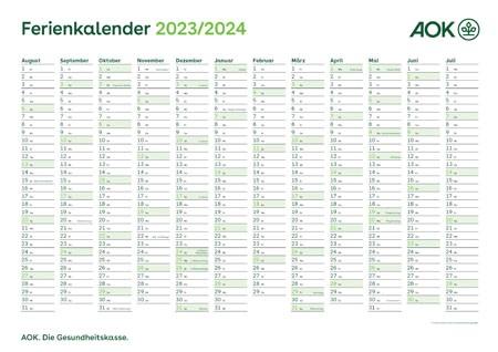 "Kalender ""Ferienkalender"""
