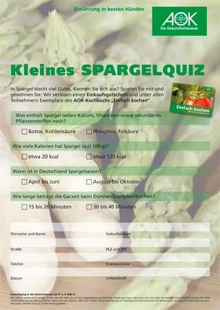 Spargel Quiz