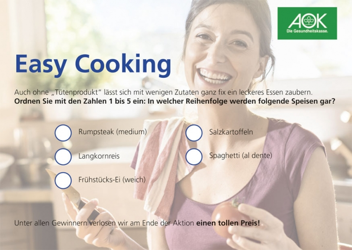 Quiz Easy Cooking
