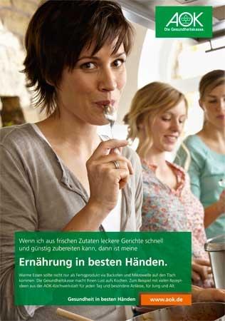 """Poster """"Ernährung in besten Händen 1"""""""