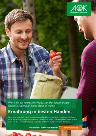 """Poster """"Ernährung in besten Händen 2"""""""