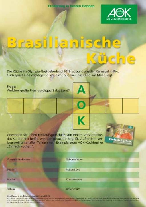 Brasilien Quiz DIN A 4