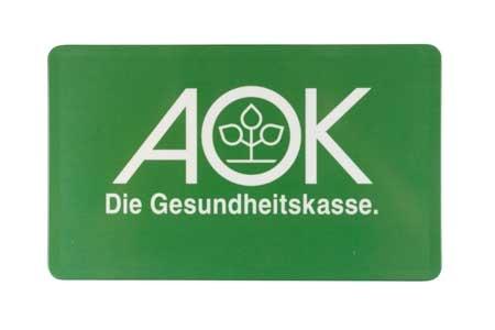 Frühstücksbrettchen mit AOK-Logo